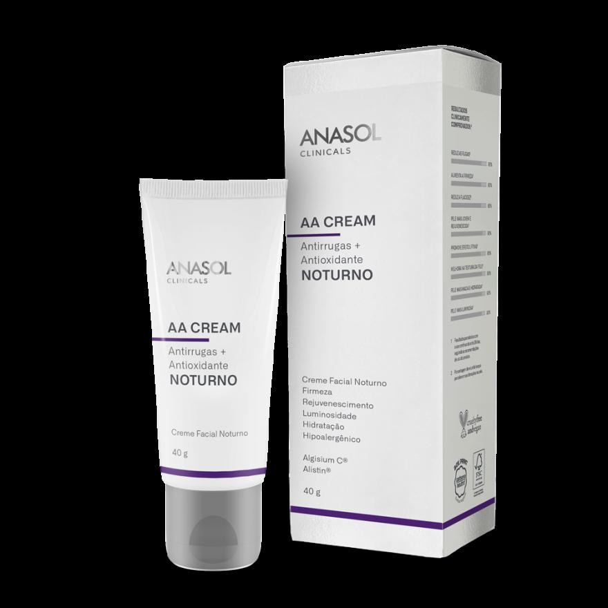 AA Cream Antirrugas+Antioxidante  Noturno Anasol FPS 60 - 40g