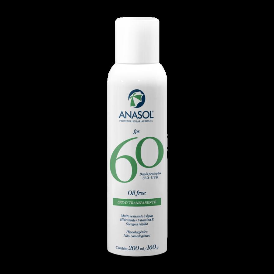 Protetor solar aerosol Anasol FPS 60  - Hipoalergênico