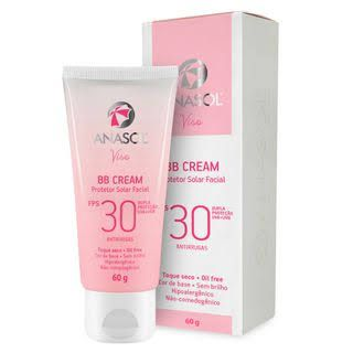 BB Cream Facial Hipoalergênico FPS 30 Antirrugas Oil Free Anasol - 60g