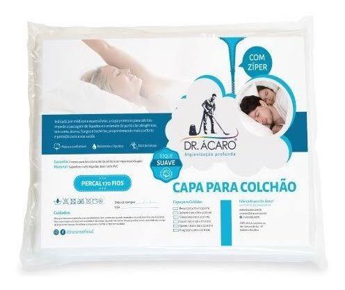 Capa para Travesseiro Antiácaro impermeável - DR ÁCARO -  Toque Suave - Algodão Percal 170 fios com PVC