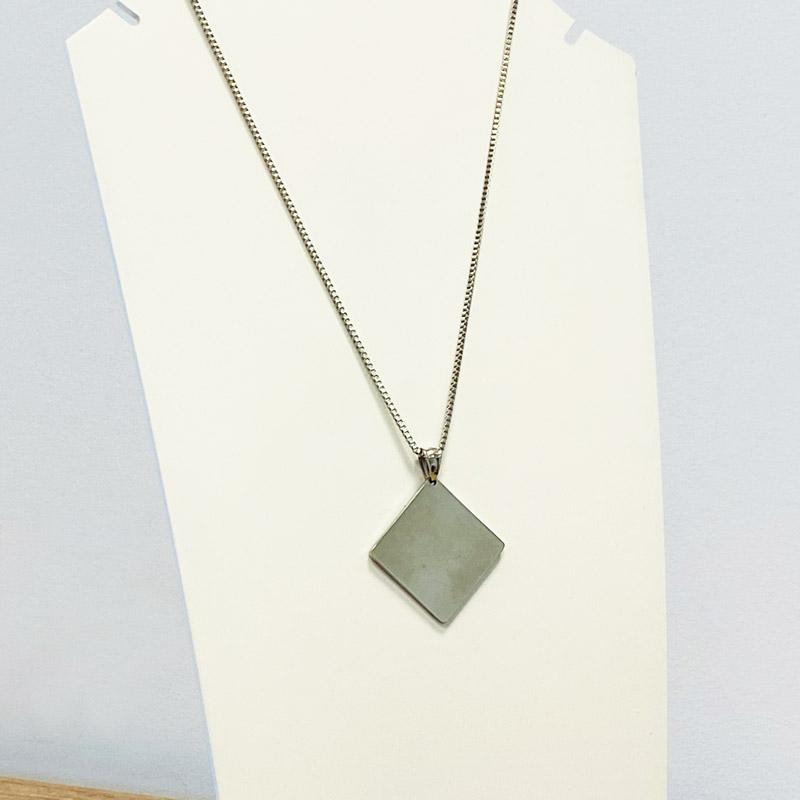 Colar Diamond - Aço Cirúrgico 316 L - Antialérgico.