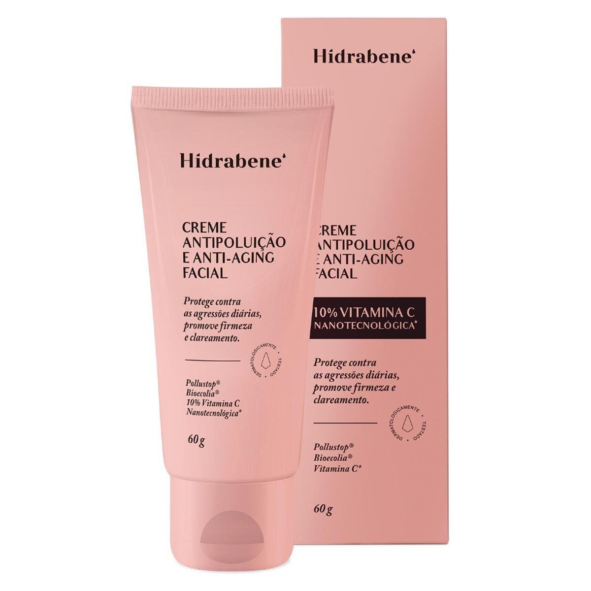 Creme Facial HipoalergênicoAnti-Poluição e Anti-Aging - 60g
