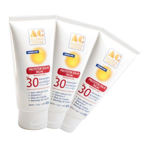 Protetor Solar Facial Hipoalergênico FPS 30