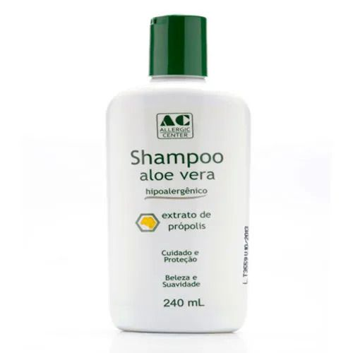 Shampoo Hipoalergênico Aloe Vera com Extrato de Própolis  Allergic Center - 240ml