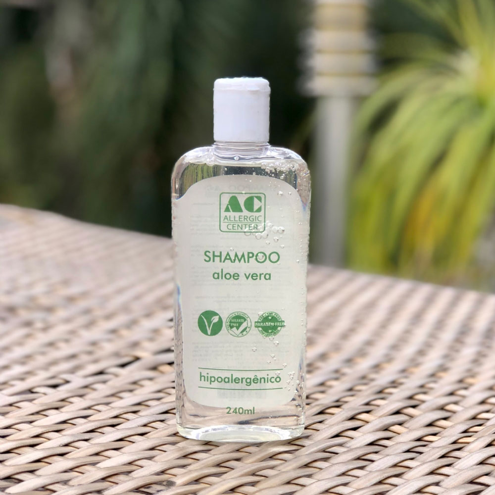 Shampoo Hipoalergênico Aloe Vera Vegano  Allergic Center - 240ml