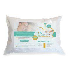 Travesseiro Antiácaro Impermeável - Casa do Alérgico Toque Suave - Acompanha capa algodão com PVC , percal 170 fios
