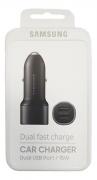 Carregador Veicular Samsung EP-L1100NBPGBR Ultra-Rápido 2 entradas Original