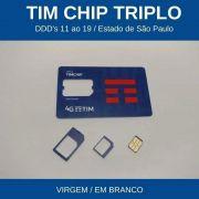 Chip da Tim Triplo para Resgate e Recuperação do Número Tim