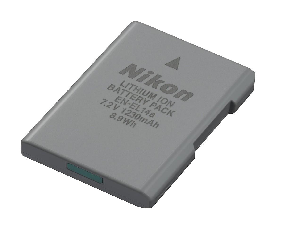 Bateria Nikon Recarregável EN-EL14a 7.2V 1230MAH 8.9WH