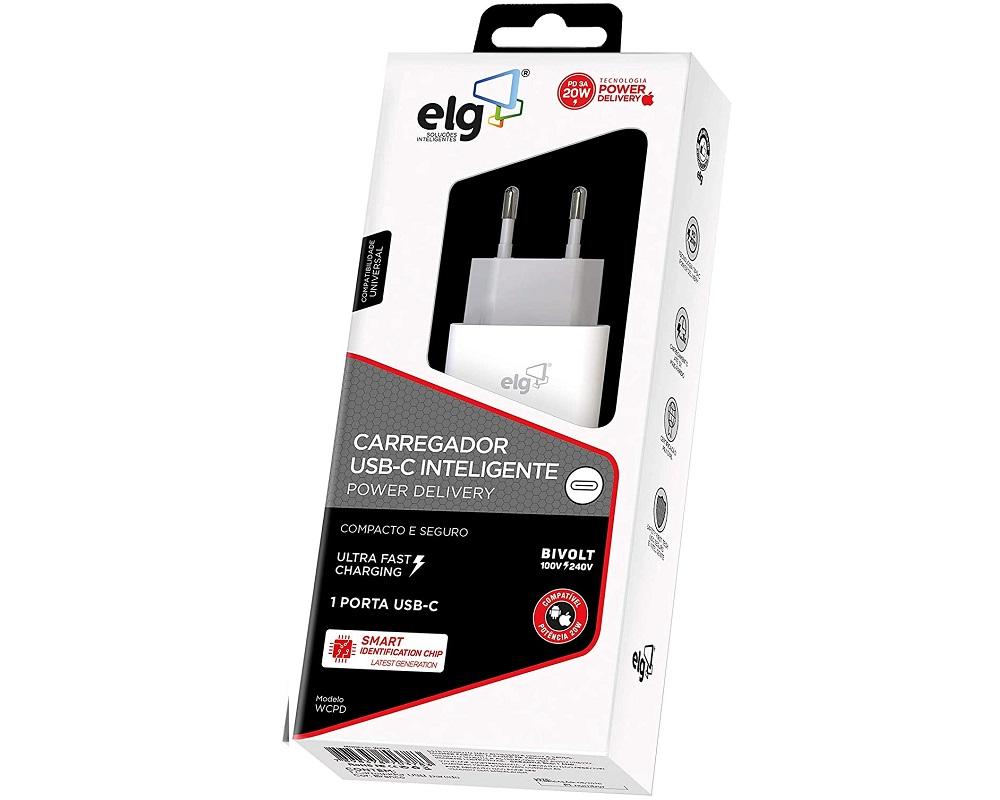 Carregador USB-C Inteligente Power Delivery  - ELG