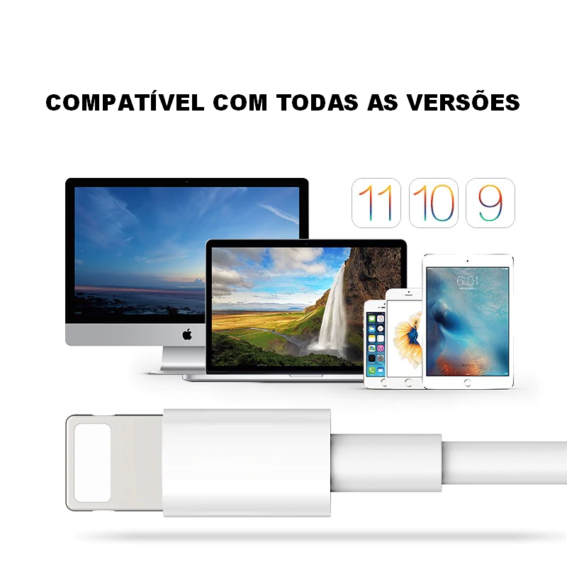 Cabo para iPhone 8, X, XS, Max e 11 Pro