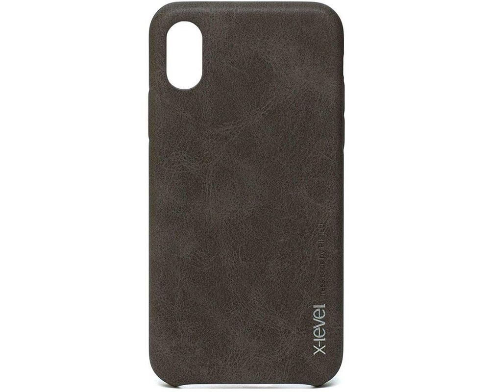 Capa Apple iPhone X/XS Vintage Dark Brown X-Level