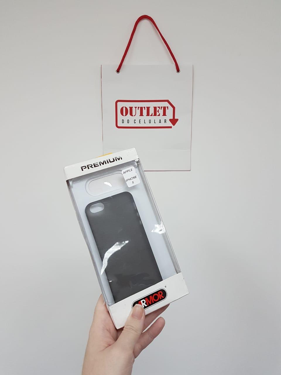 Capa Protetora TPU Armor para iPhone 5 e 5S Fumê