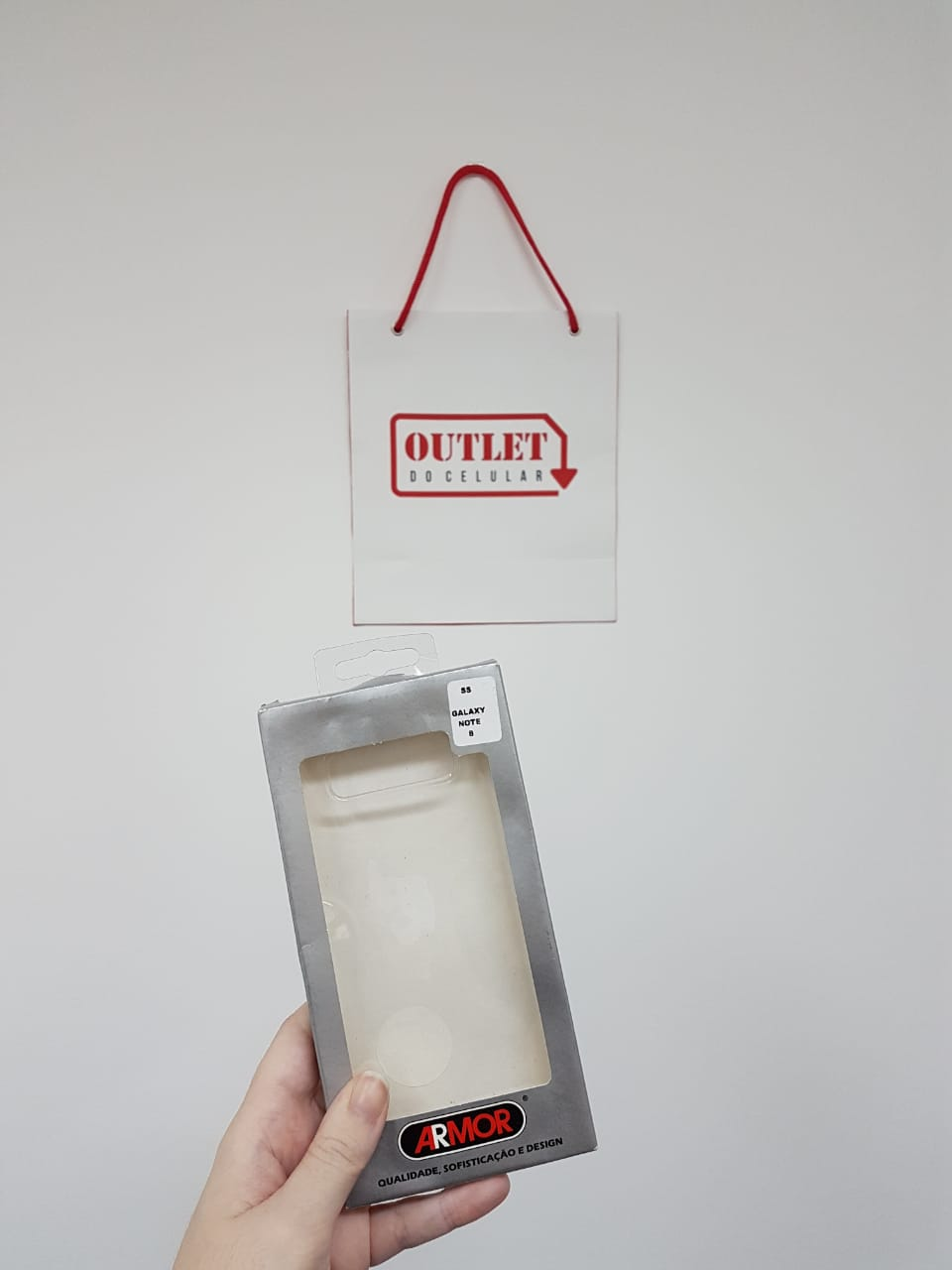 Capa Protetora TPU Armor para Galaxy Note 8 Transparente