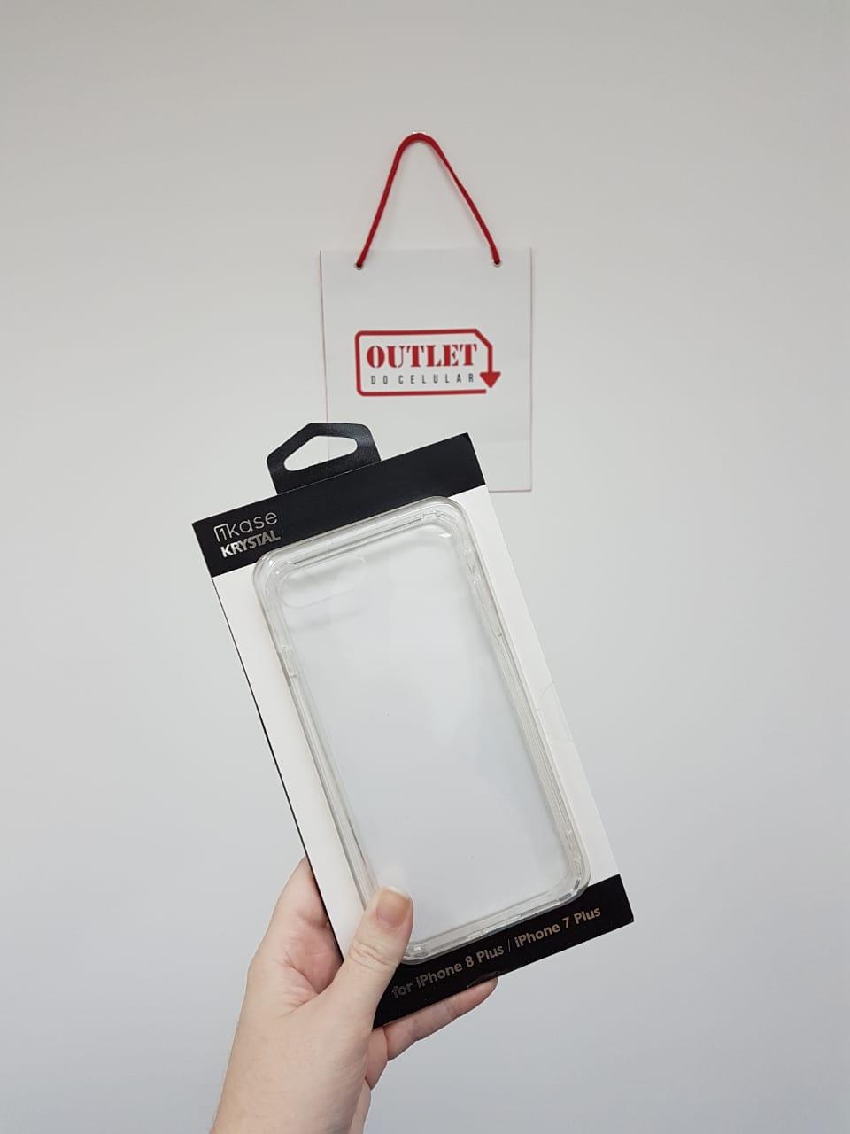 Capa Protetora TPU iKase Krystal para iPhone 7 e 8 Plus Transparente