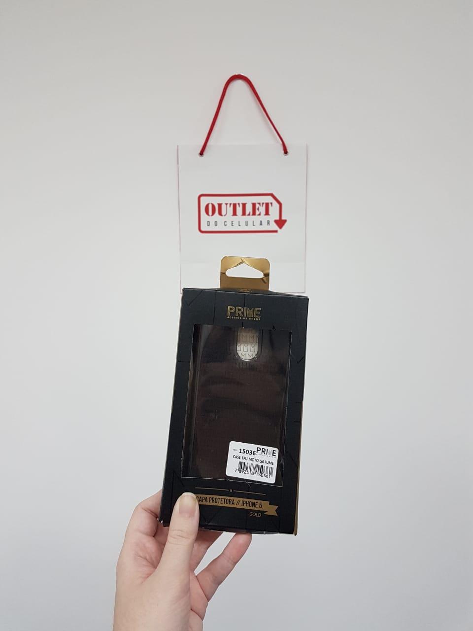 Capa Protetora TPU Prime Motorola Moto G4 Fumê