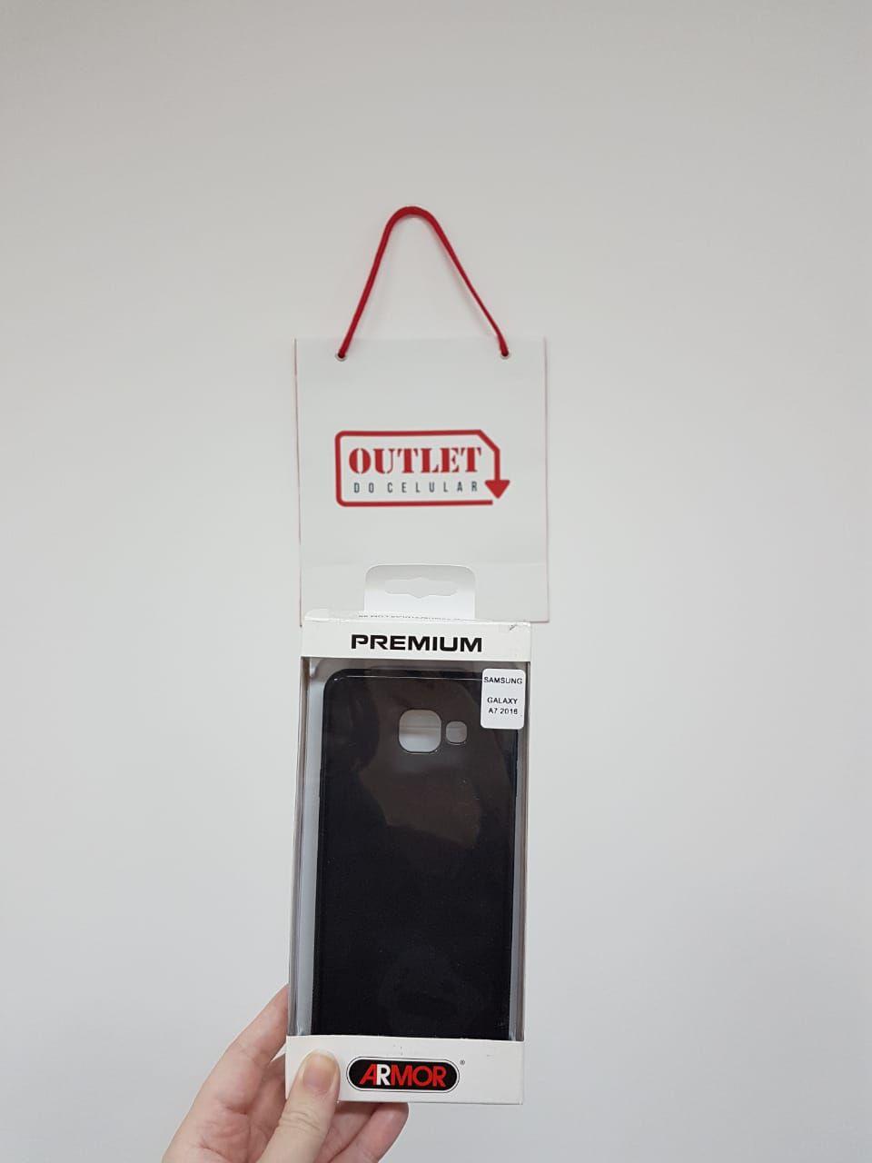 Capa Protetora TPU Armor para Samsung A7 2016 Fumê