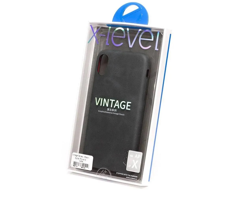 Capa X-Level (Vintage Series) Apple iPhone X/XS - Preto
