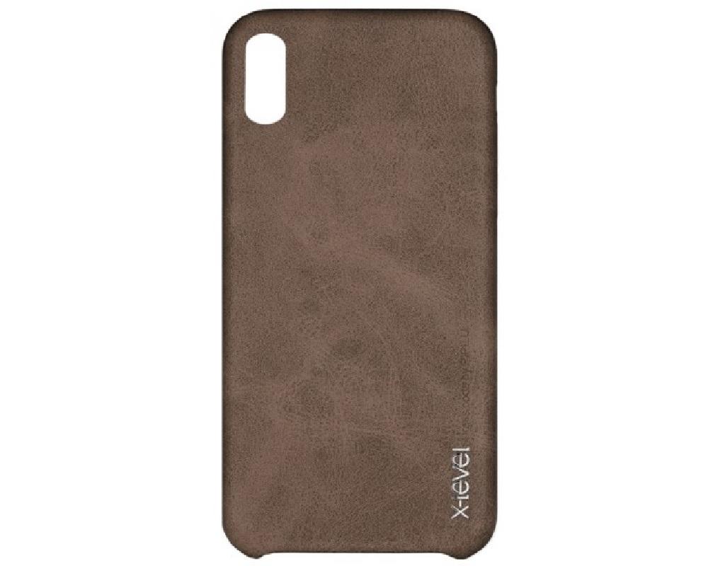 Capa X-Level (Vintage Series) Dark Brown - Apple iPhone XR