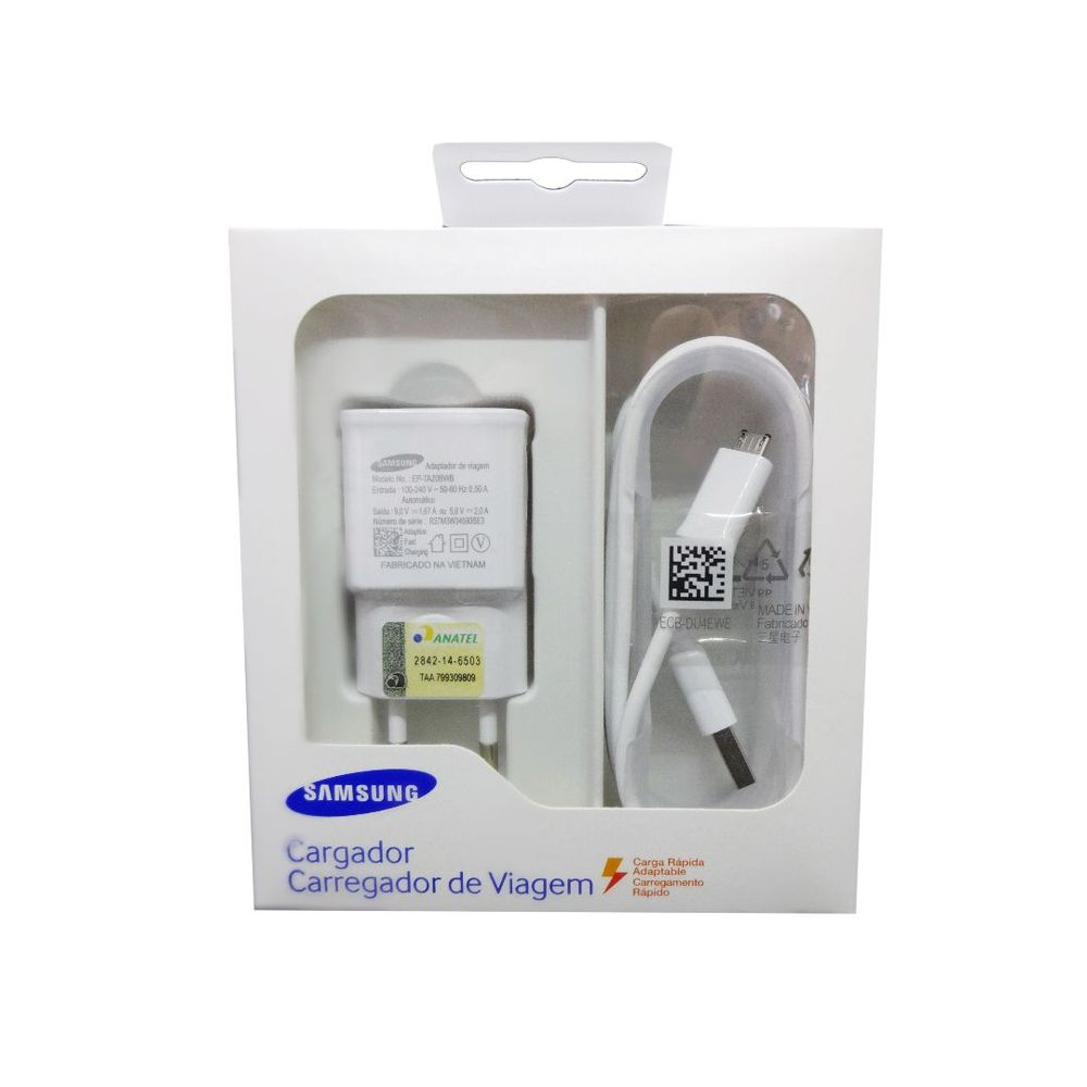Carregador Samsung EP-TA20BWBUGBR Ultra-Rápido Micro USB Original