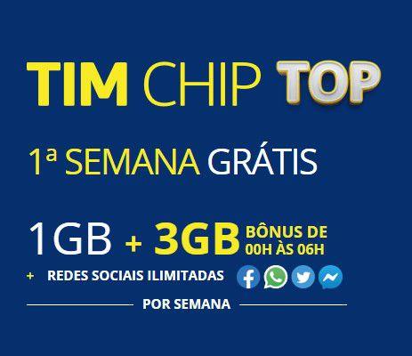 Chip da Tim Pré Top qualquer DDD do Brasil 11 ao 99