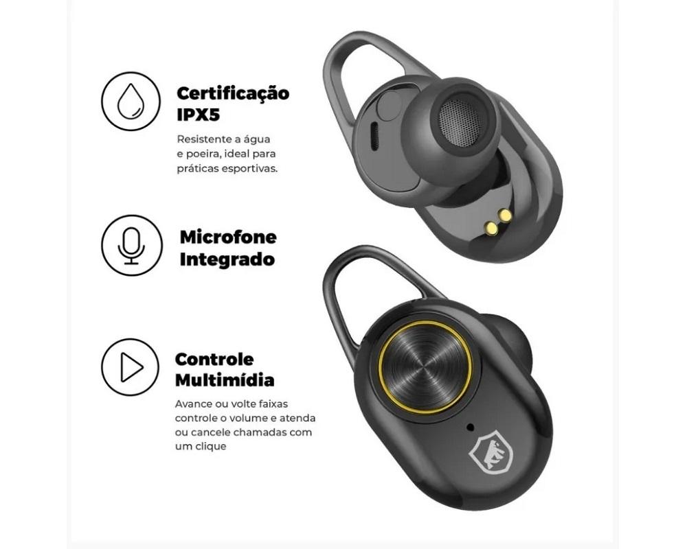 Fone Bluetooth Gorila Buds - Gorila Shield