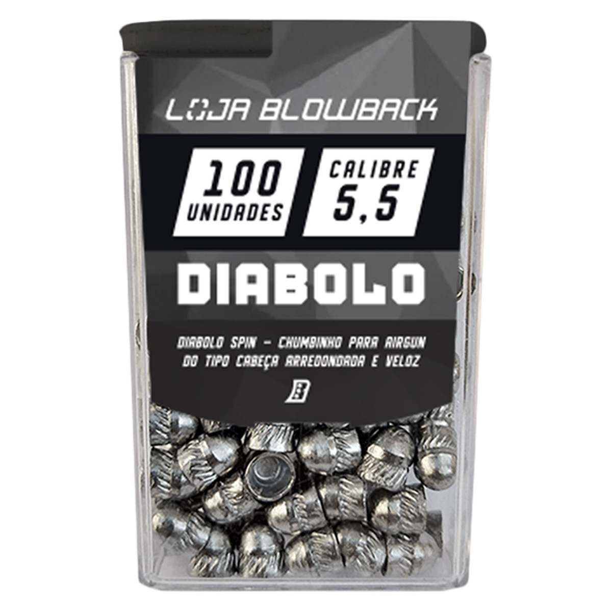 1 Pack de Chumbinho Diabolo 5,5mm Chumbo Paulista P/ Carabinas Pressão