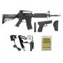 Rifle Airsoft Cyma M4A1 Ris Rajada Aeg Eletrica 6mm + Kit 3