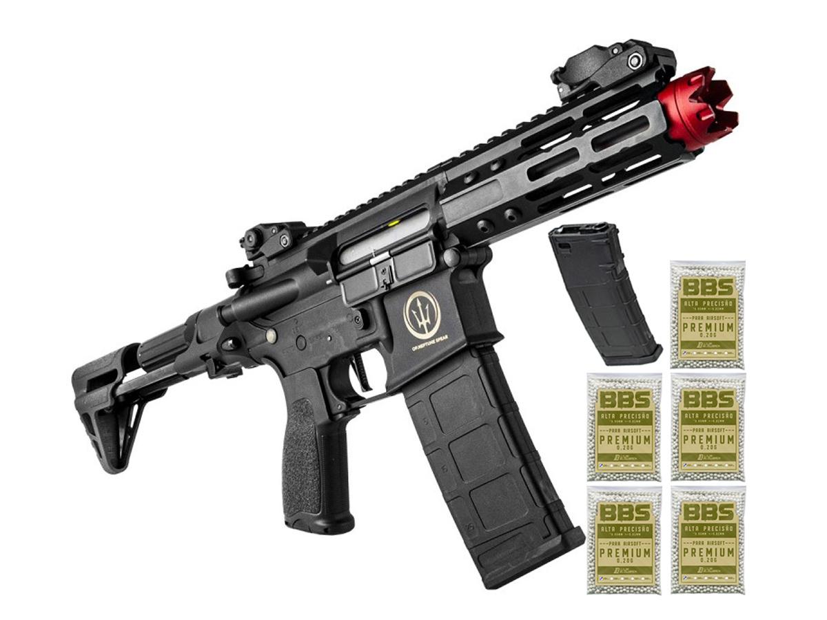 Airsoft Rifle M4 Rossi Ar15 Neptune PDW Aeg Rajada 6mm K6