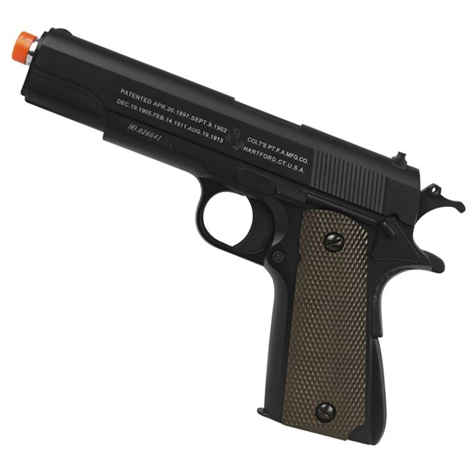 PISTOLA DE AIRSOFT COLT 1911 FULL METAL SPRING DOUBLE BELL