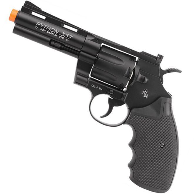 "Revolver de Airsoft Full Metal Co2 Cybergun Colt Python .357 Cano 4"""