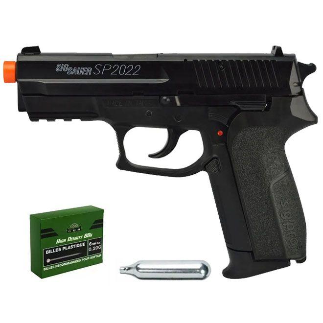 Pistola Airsoft SigSauer Sp2022 CO2 - CYBER GUN
