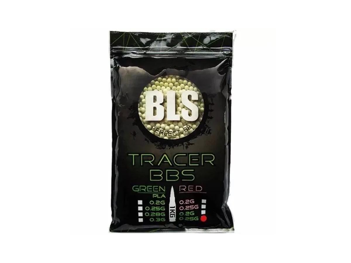 Bbs Munição Airsoft 0.25g BLS Tracer Brilha Escuro 1kg 6mm