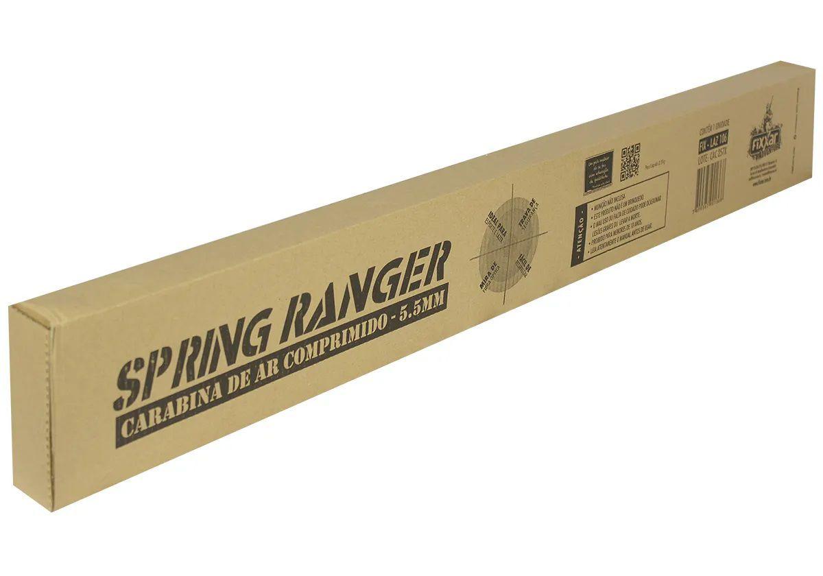Carabina De Pressão Fixxar Ranger Black 5.5mm + 1 Pack de chumbinho