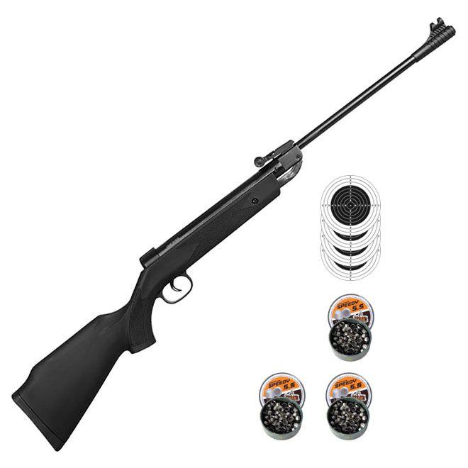 Carabina De Pressão Fixxar Shadow Black 5.5mm + 3 Pack de chumbinho