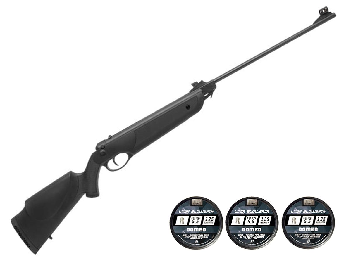 Carabina Espingarda De Pressão Rossi Nova Dione 5,5mm Kit 49 - 5.5 mm - Preto