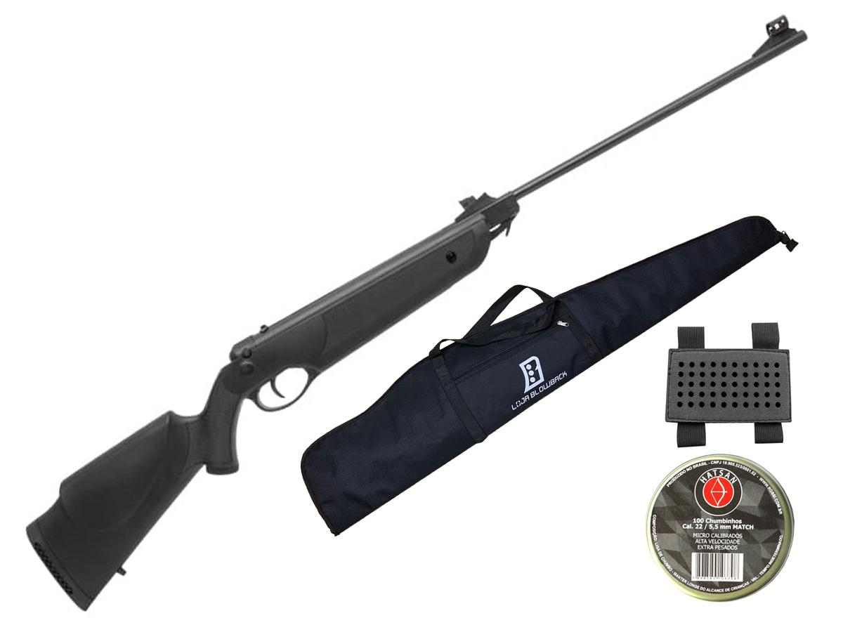 Carabina Espingarda De Pressão Rossi Nova Dione 5,5mm Kit 4 - 5.5 mm - Preto