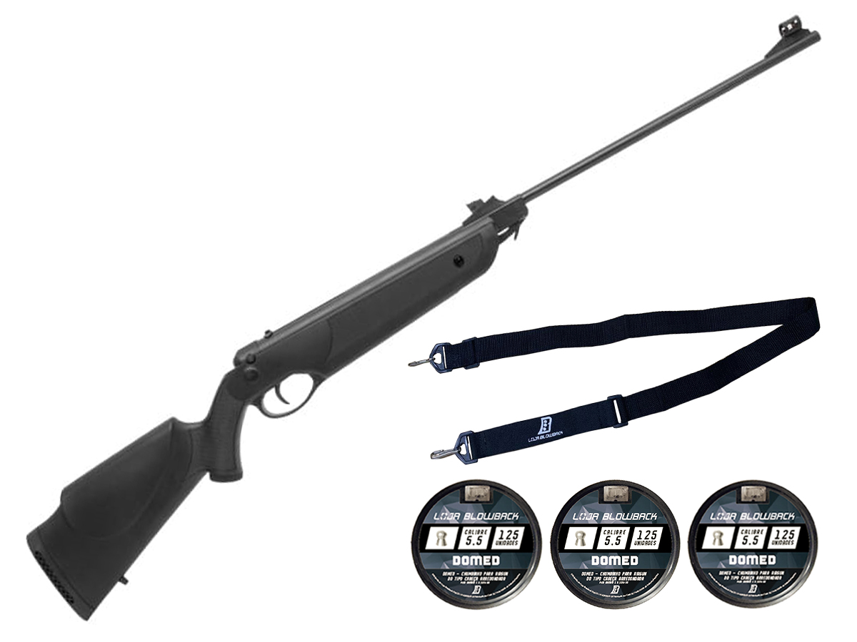 Carabina Espingarda De Pressão Rossi Nova Dione 5,5mm Kit 59