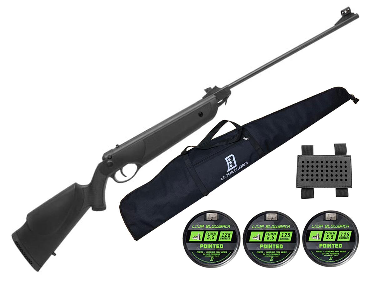 Carabina Espingarda De Pressão Rossi Nova Dione 5,5mm Kit 62