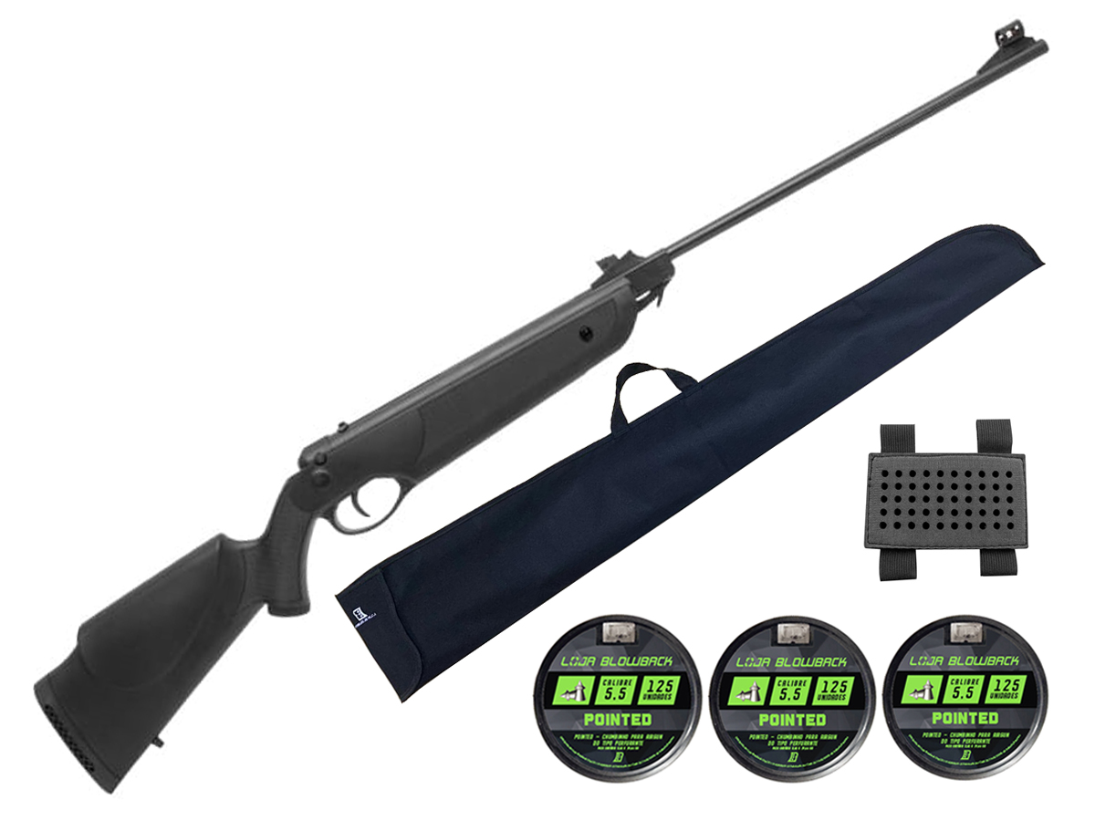 Carabina Espingarda De Pressão Rossi Nova Dione 5,5mm Kit 67
