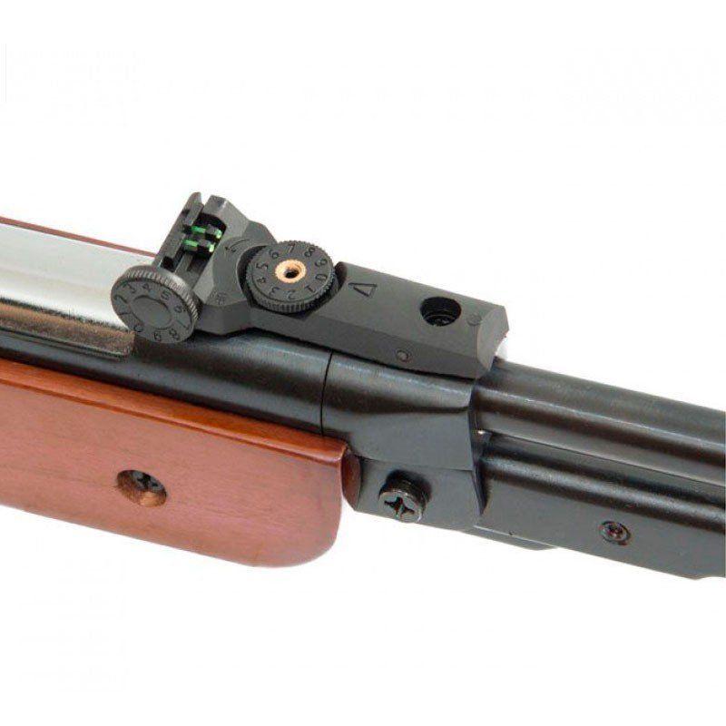 Carabina Pressão Gás Ram Fixxar Nitro West 5.5mm + 5 Pack de chumbinho + Luneta