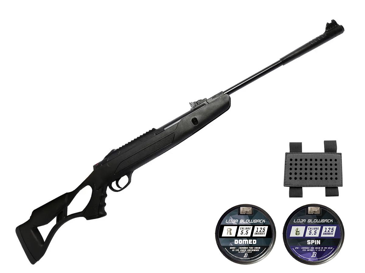 Carabina Pressão Hatsan Airtact Pd Nitro Gás Ram 5,5mm Kit 18