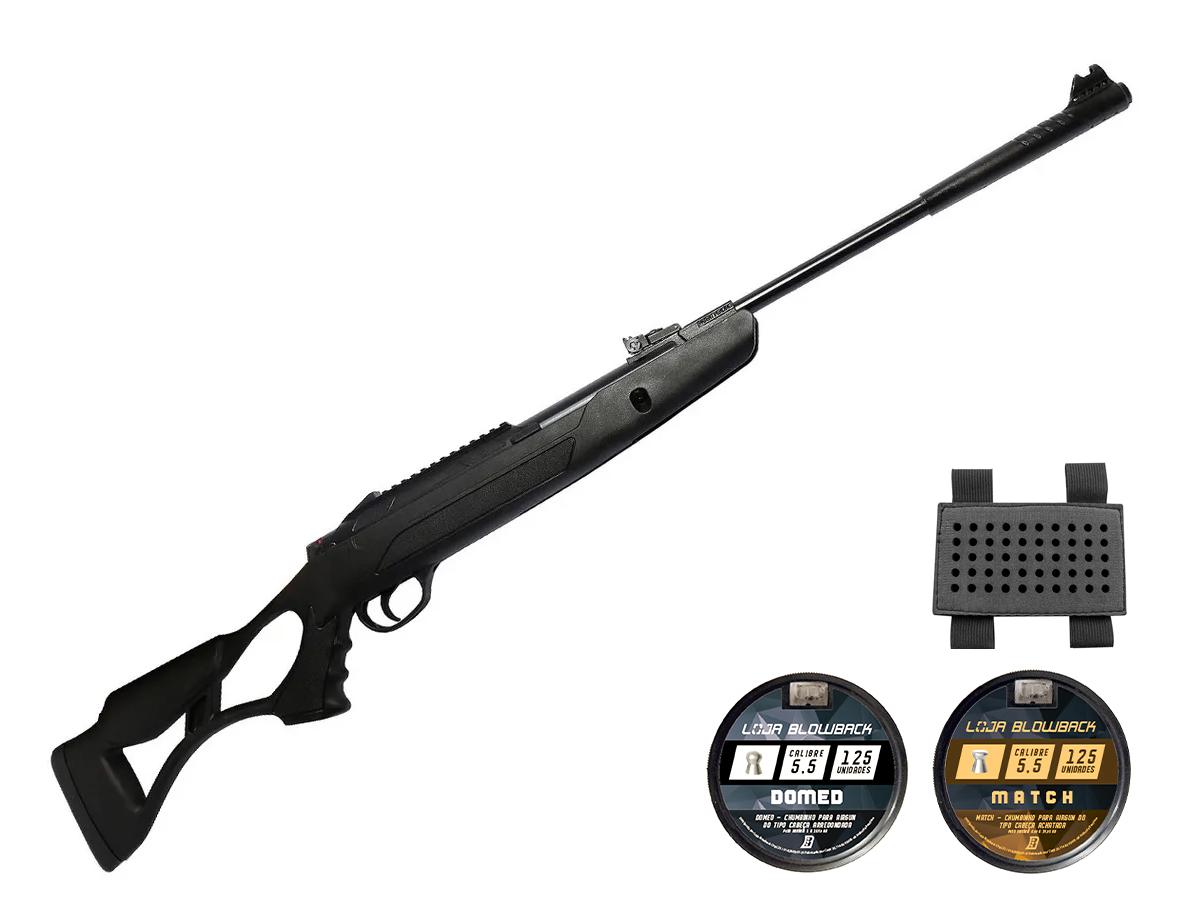Carabina Pressão Hatsan Airtact Pd Nitro Gás Ram 5,5mm Kit 24