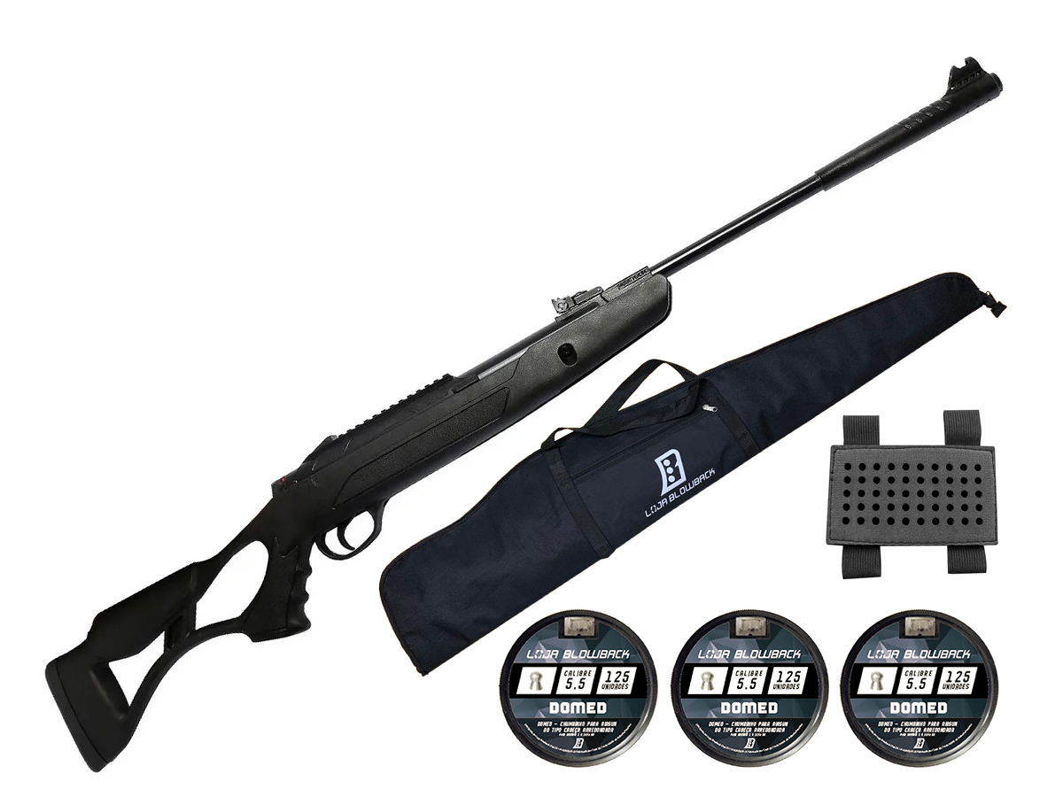 Carabina Pressão Hatsan Airtact Pd Nitro Gás Ram 5,5mm Kit 32