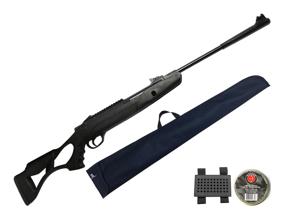 Carabina Pressão Hatsan Airtact Pd Nitro Gás Ram 5,5mm Kit 3