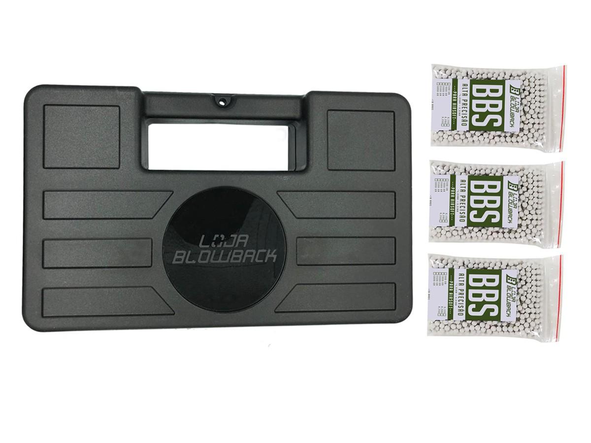 Case maleta armas pistola revolver airsoft + 3000 Bbs 0.12g