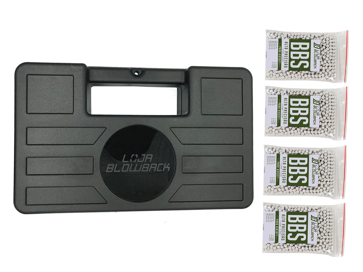 Case maleta armas pistola revolver airsoft + 4000 Bbs 0.12g