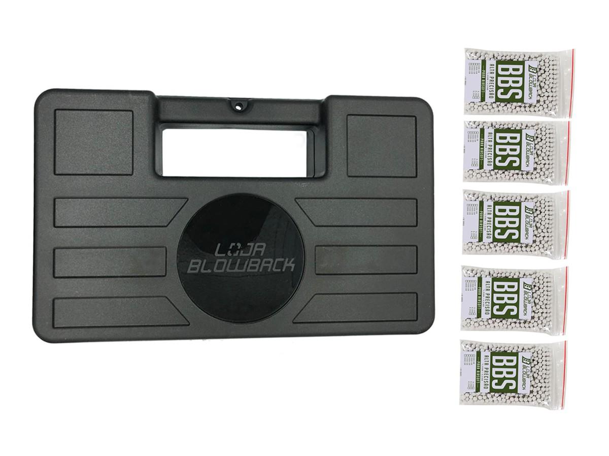 Case maleta armas pistola revolver airsoft + 5000 Bbs 0.12g