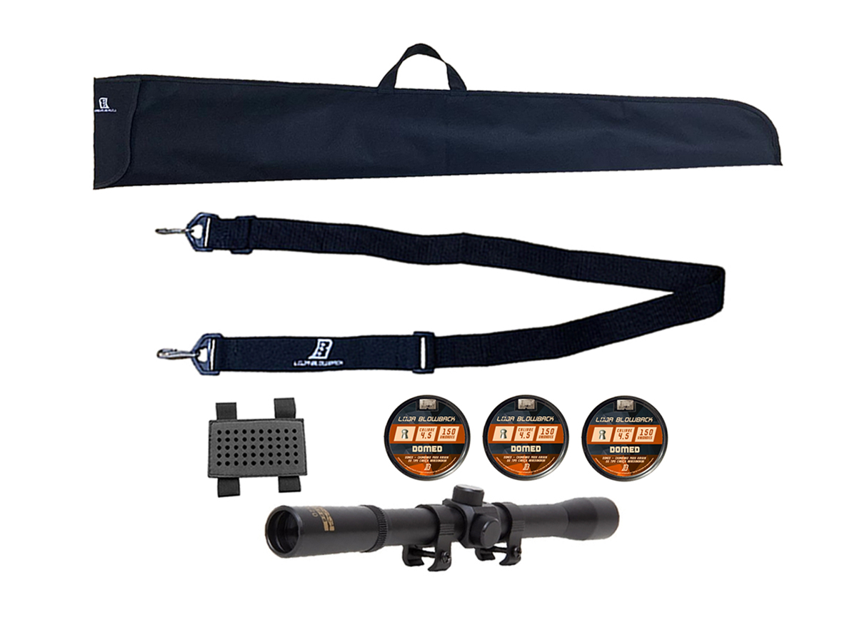 Chumbinho 4.5mm Domed P/ Carabina Pressão 450un + Kit 4