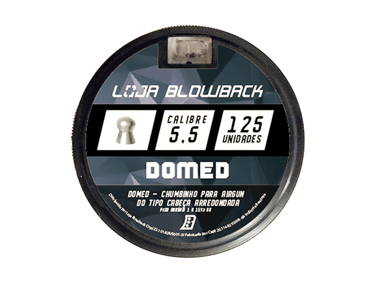 Chumbinho 5.5mm Domed P/ Carabina Pressão 375un + Kit 1